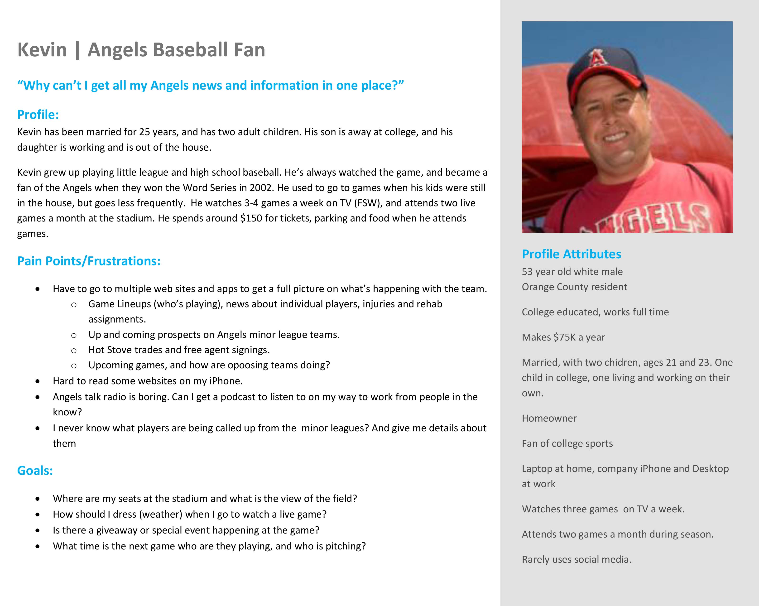 angels fan persona